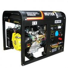 Бензиновый генератор HUTER DY6500LXW, с функцией сварки и колёсами